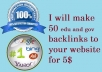 make 50 edu and gov backlinks to your website