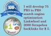 develop 75 PR3  to PR8 search engine optimization Linkwheel and 2000 Scrapebox backlinks