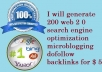 generate 200 web 2 0 search engine optimization microblogging dofollow backlinks
