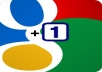 give you 40+ REAL 100% manual google+1 for your website or blog
