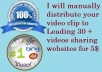 manually distribute your video clip to Leading 30 + videos sharing websites