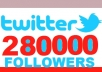 tweet your products or services to 280000 HUMAN followers 2 times in 2 days