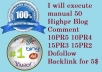 execute manual 50 Highpr Blog Comment 10PR5 10PR4 15PR3 15PR2 Dofollow Backlink