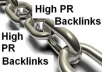 create Penguin And Panda Friendly 50 AUTHORITY Page Rank 5 Do Follow Backlinks