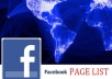 send you a list of 350+ FACEBOOK pages with more than 40000000+ fans that allow posting for you to advertise on