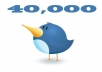 send real 40,000 twitter followers [CHEAPEST on SEOCLERKS] to two accounts of your choice in 4 days