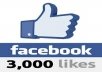 give 3000 worldwide likes to your fanpage