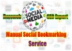 manually submit your website or blog on 20 High PR Social Bookmarking website with PR4 to Pr8