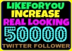 ★ add more than 50000 twitter followers { Real Looking } { Best } { Top Quality } without need of password in just few hours ★