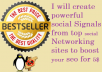 Create  power full and effective backlinks from top 100 social networking websites
