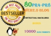 produce 80 Higher PR web2 Contextual Backlinks + Ping + 10000 Blog Comments