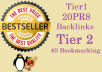 manually develop 20 Backlinks from 20 Pr8 Authority website in Tier1 Accompanied by 40 Social Bookmarking + Panda and Penguin Friendly + Indexing