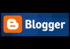 make an amazing Blogger Blog for you with a .com domain