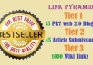 produce Google penguin safe 60 PR3 to PR8 Three Tier SEO Linkpyramid and 1000 Media wiki backlinks