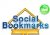 Social bookmarking submission Manually to 200+ sites Including Top 50 sites