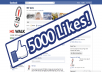 Give you 5000+ VERIFIED Website Facebook Likes Guaranteed safe to any Domain Website Webpage