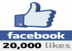 Give you 20000+ VERIFIED Website Facebook Likes Guaranteed safe to any Domain Website Webpage