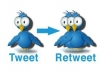 Give You 100  Twitter Retweets + 100  Twitter Favorit %Real