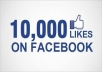 put 10,000 ++++ facebook likes to your fanpage only in 50 $