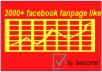 give you 2000+ real facebook like for your fanpage with out admin access