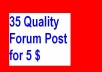 do quality 35 forum post on 35 different forum having Google PR 1 or above