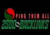create 400 dofollow plus nofollow backlinks also ping them all and improve your website seo ranking