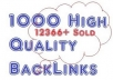 create 1000 high quality backlinks, ping, meta indexing Google panda penguin safe