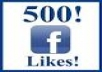 provide 500+real facebook likes only