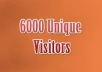 Provide 6000 Unique Guaranteed Visitors To Your Website, Get Google Analytics Report