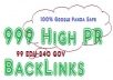 create 999 high pr backlinks with 99 edu and 240 gov,550 words unique article Google panda safe