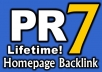 give PR7 Permanent DoFollow Homepage Link for Life on Valid PR7 US English site {Guarantee less than 50 OBLs}