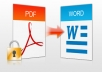 convert your pdf document to word/excel or the other way