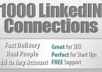 instantly ADD 1000+ Real Targeted Linkedin Connections To Your account within 2hours