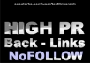 create 150 high pr backlinks nofollow + bonus