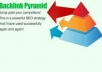 create a 2 tier link pyramid with at least 12 buffer sites and 5000 backlinks