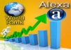 send 1000000/one million VISITORS to your website for improve your ALEXA RANKING