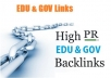 Give you UNLIMITED EDU and GOV Links to Your Site or Blog