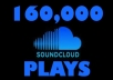 Give u 160,000+ Soundcloud Song Plays on up to 10 Tracks
