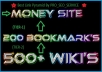 create ★ Google Safe ★* 2 Tier Link Pyramid ★ with over 200+ High PR Social Bookmarks and over 1000+ contexual Wiki backlinks