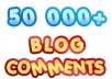 build the MASSIVE 50 000 blog comments with full report and pinging just