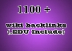 make 1100 contextual wiki BACKLINKS,in 1100 Backlinks wiki site to boost u serp