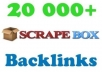 create 20,000 GUARANTEED backlinks with scrapebox And add Them to my Linklicious Pro account for Fast indexing and Pinging and Dripfeed them