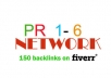 create 150 dofollow CONTEXTUALBACKLINKS in 50 posts on pr1 to pr6 blog network ....