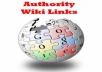 manually create 100 White Hat SEO contextual Wiki backlinks