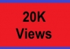 add 20,000 YouTube Views for your video, YOUTUBE views trusted gigs