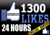 give You 1300 USA Facebook Like To Fanpage,Post or Photo(quick delivery/express)
