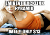 eminent backlink pyramid with 5000 profiles,most dofollow,include some edu gov,good seo for youtube by using xrumer senuke scrapebox 