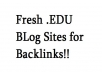 Get you better rankings when you use this list of eighty+ EDU sites for backlinks