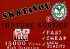deliver 20000 HIGH retention youtube views to your video very fast