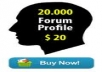 provide 20000 verified forum profile backlinks